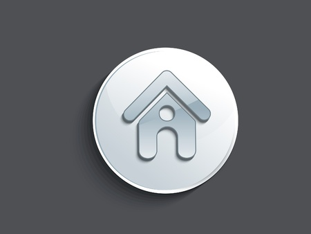 abstract glossy home button vector illustration  Vector