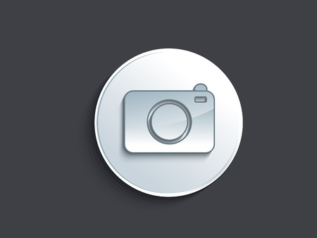 focus group: abstract glossy camera icon illustration