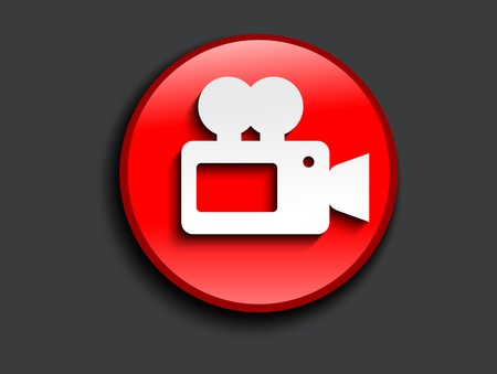 camcorder: abstract glossy camcorder icon illustration  Illustration