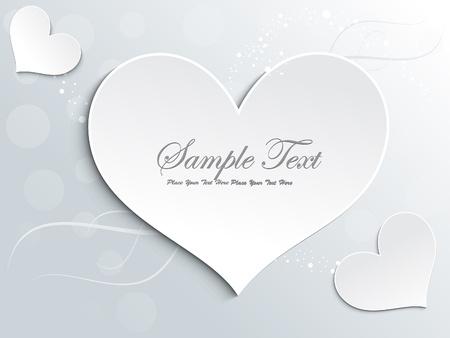 abstract love card design vector illustration