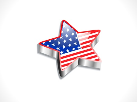 abstract glossy american flag in star shape vector illustration  Stock Vector - 19931599