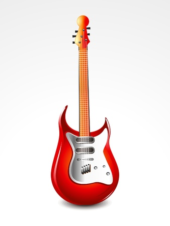 orchestration: abstract glossy guitar  vector illustration  Illustration
