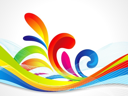 abstract colorful wave background vector illustration Illustration