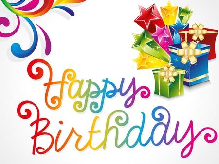 Ilustración colorida abstracta tarjeta de cumpleaños
