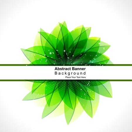 rimmed: abstract glossy green leaf background illustration  Illustration