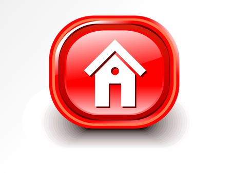 e new: abstract glossy home icon illutsration  Illustration