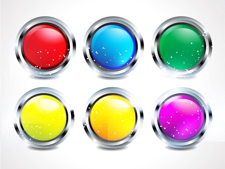 abstract glossy matelik buttons illustration Stock Vector - 20402897