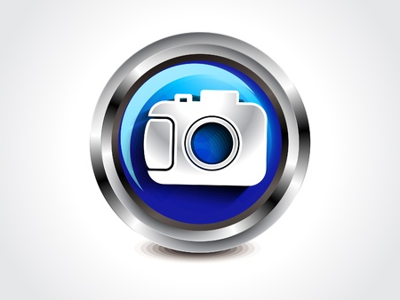 abstract glossy camera button illustration  Vector