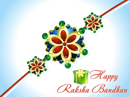 abstract raksha bandhan rakhi background  Vector