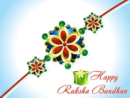 raksha: astratto Raksha Bandhan Rakhi sfondo Vettoriali