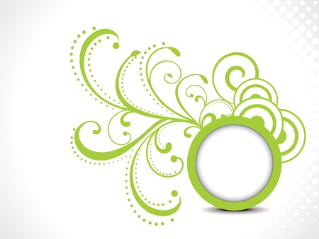 ocassion: abstract green floral background with circle