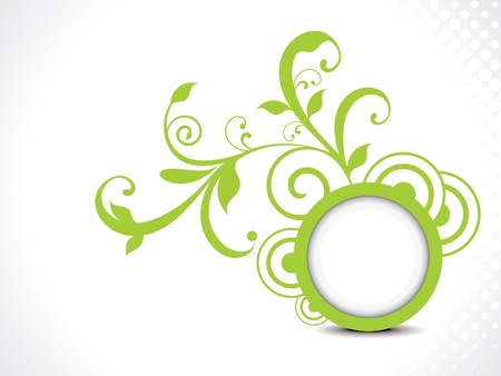 accent: abstract green floral background