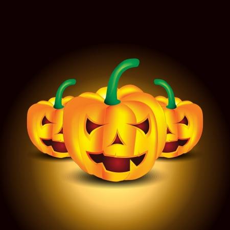 public celebratory event: halloween pumpkin shape vector illustration