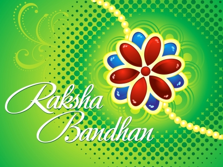 raksha bandhan background vector illustration Stock Vector - 21178568