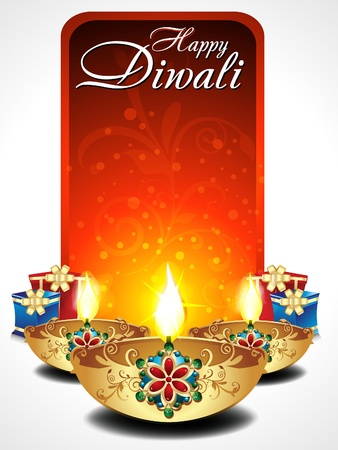 diwali background: abstract Diwali background with gifts illustration  Illustration