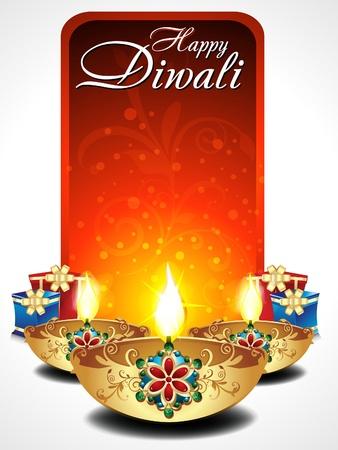 indian light: Diwali fondo abstracto con regalos ilustraci�n Vectores