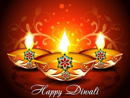 deepak: abstract Diwali background with floral
