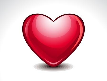 Glossy Heart Shape illustration Stock Vector - 21642264