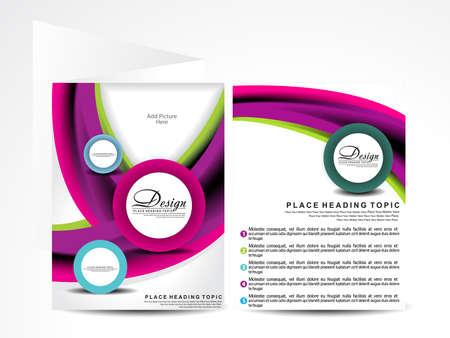 colorful wave brochure design illustration Stock Vector - 21642305
