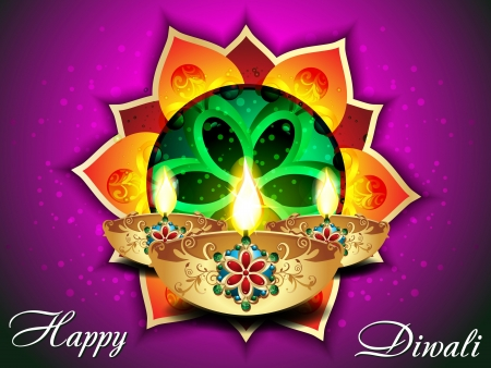 abstract Diwali background with pangolin illustration  Vector
