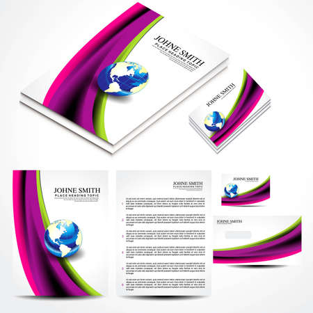 Wave Brochure Set Design illustration  Stock Vector - 21632450