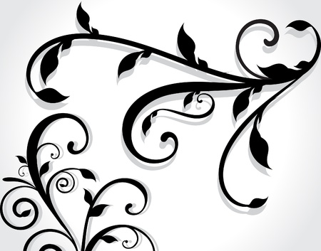 Floral Ornament Illustration Stock Vector - 21642407