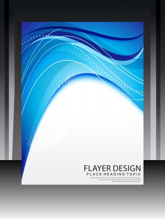 flayer: Abstract Blue Flayer Design Vector illustration