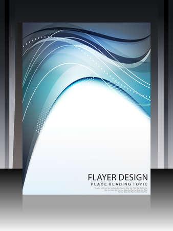 flayer: Digital Wave Flayer Design Vector illustration