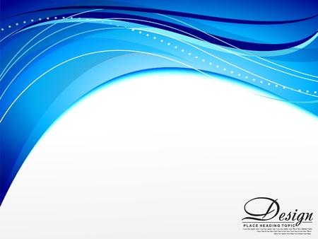 flayer: abstract blue wave Background Illustration  Illustration