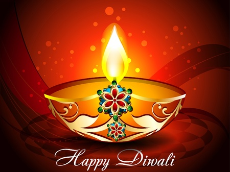 Dark Diwali Background Illustration  Vector