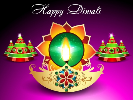 Diwali Background With Sparkle illustration  Vector