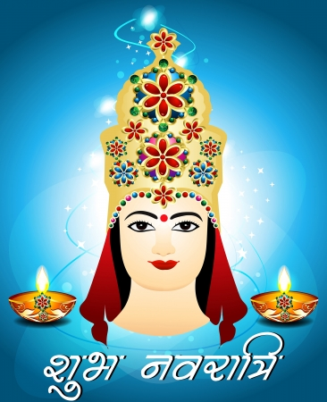 Navratri Card Design illustration Vector