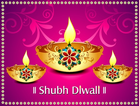 Diwali background With flroal Vector illustration  Vector