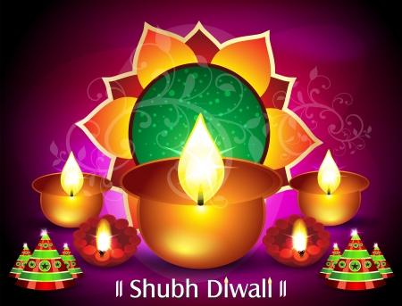 deepawali backdrop: Diwali Card Design Vector illustration  Illustration