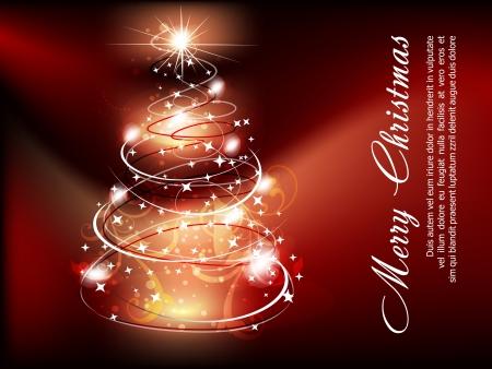 xmas linework: Christmas Tree background Vector illustraiton Illustration
