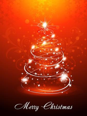 xmas linework: Christmas Tree Background Vector illustration