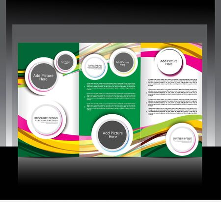Tri fold Brochure design Vector illustration Illustration