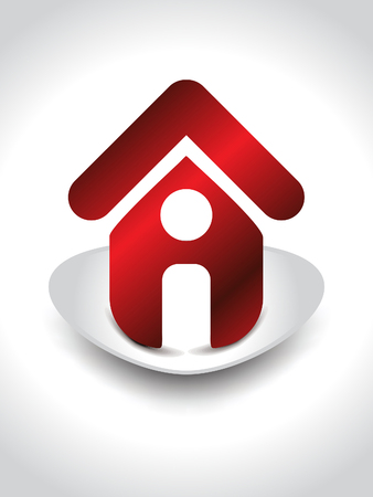home icon with shaddow vector illustration Vector