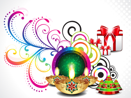 divinity: colorful diwali background vector illustration Illustration