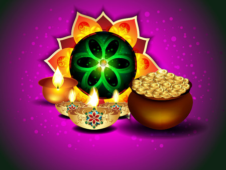 Diwali Background With Rangoli Vector illustration  Vector