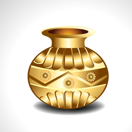 Golden Pot illustration  Vector