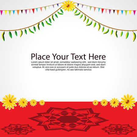 ghatashtapana: Festival Background Vector illustration Illustration