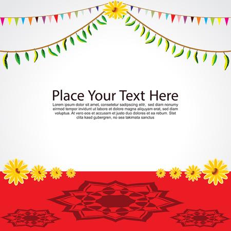 ghatashtapana: Festival Background Vector illustration Illustration
