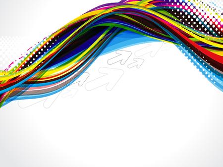 grunge wave background vector illustration Stock Vector - 22896390