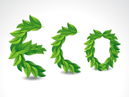 shaddow: Eco Background With Leaf vector illustration