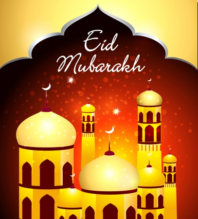 Eid Mubarakh Background vector illustration  Stock Vector - 22896398