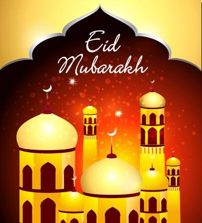 Eid Mubarakh Background vector illustration Stock Vector - 22896398
