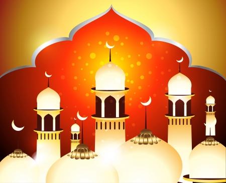 ramzan: Oro Eid Antecedentes ilustraci�n vectorial Vectores