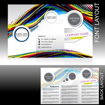 vecotr colorful wave brochure design vector illustration Stock Vector - 23205927