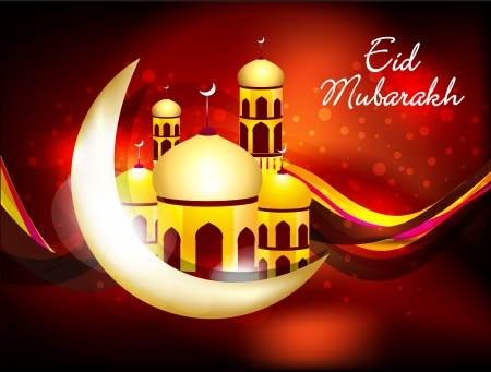 abstract eid background with sparkle vector illustration  Illustration